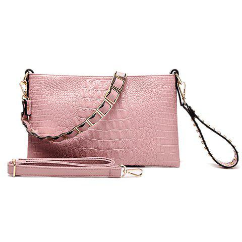 New Casual Embossing and Rivets Design Clutch Bag For Women