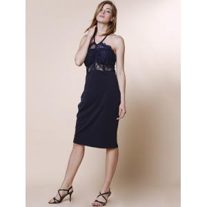Sexy Spaghetti Strap Sleeveless Lace Design Women's Dress -