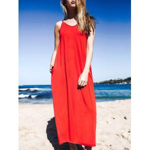Maxi Baggy Style Tank Dress With Pockets