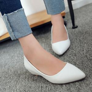 Point Toe Flat Slip On Shoes -