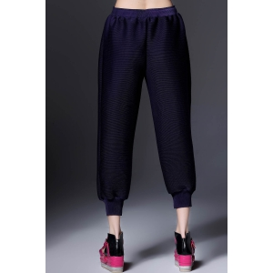 Ruched Ninth Hollow Out Pants -