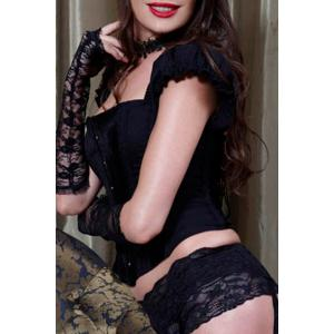Attractive Slimming Ruffled Sleeves Corset For Women - BLACK M