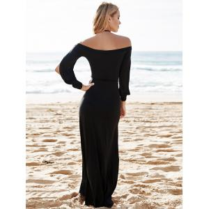 Hollow Out Casual Evening Prom Maxi Dress -