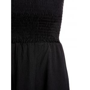 Trendy Strapless Solid Color Asymmetrical Women's Dress -
