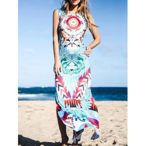 Maxi Slit Printed Boho Dress for Summer