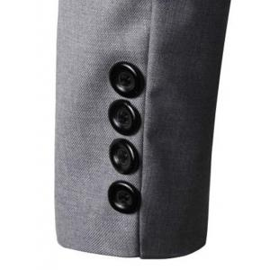 Turn-Down Collar Solid Color Single-Breasted Patch Pocket Long Sleeve Blazer For Men -