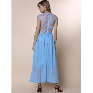 Solid hollow out lace maxi dress homecoming stores