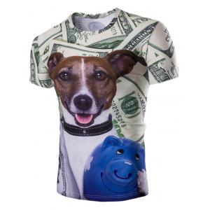 Casual Dog Printed Short Sleeves Men's T-Shirt