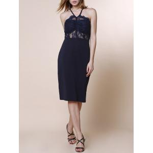 Sexy Spaghetti Strap Sleeveless Lace Design Women's Dress