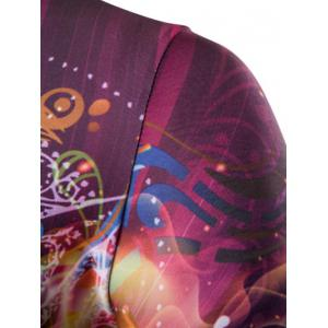 3D Abstract Eye Print Round Neck Galaxy T-Shirt - COLORMIX 2XL