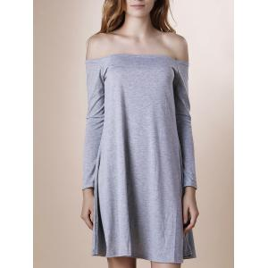 Off-The-Shoulder Long Sleeve Club Dress