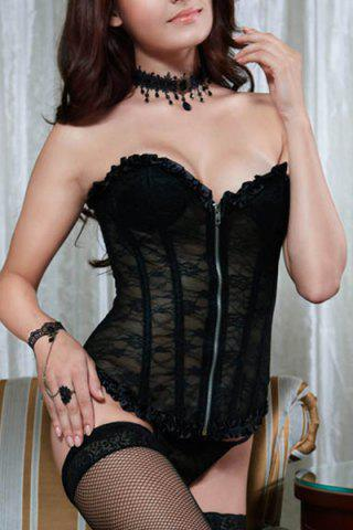 Affordable Attractive Lace See-Through Corset For Women