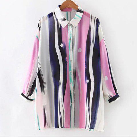 Shops Chic Women's Bat Sleeve Colorful Shirt