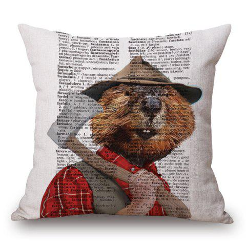 Buy Stylish Animals Hamster Portrait Pattern Square Shape Pillowcase (Without Pillow Inner)