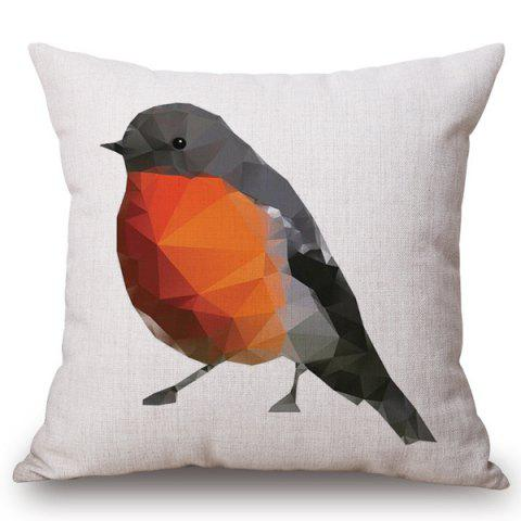 Trendy Fashion Abstract Bird Diamond Pattern Square Shape Pillowcase (Without Pillow Inner)