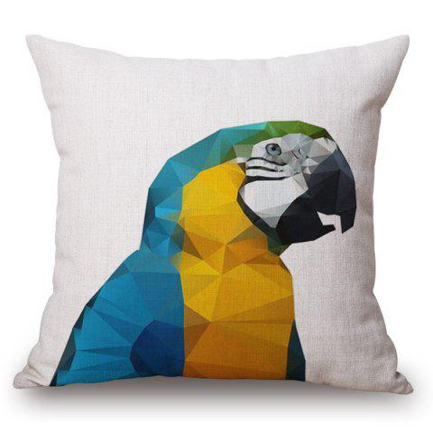 Shop Fashion Diamond Parrot Pattern Square Shape Pillowcase (Without Pillow Inner)