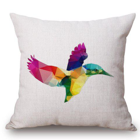 Outfits Fashion Rainbow Color Diamond Bird Pattern Square Shape Pillowcase (Without Pillow Inner)