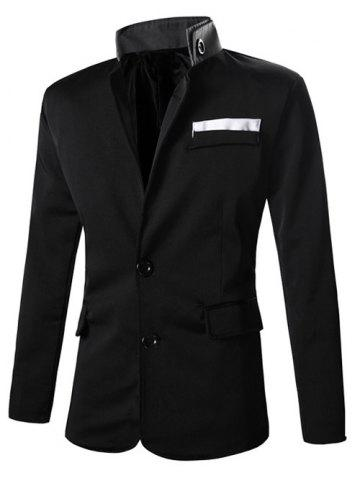 Chic Turn-Down Collar Solid Color Single-Breasted Patch Pocket Long Sleeve Blazer For Men