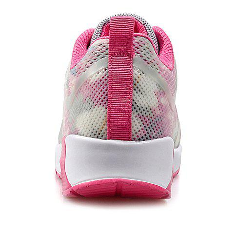 Fancy Stylish Print and Mesh Design Sneakers For Women - 38 PINK AND WHITE Mobile