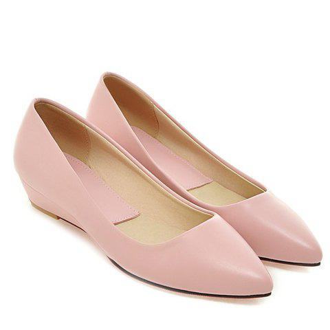 Chic Point Toe Flat Slip On Shoes - 38 PINK Mobile