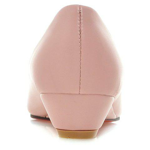 Outfits Point Toe Flat Slip On Shoes - 38 PINK Mobile