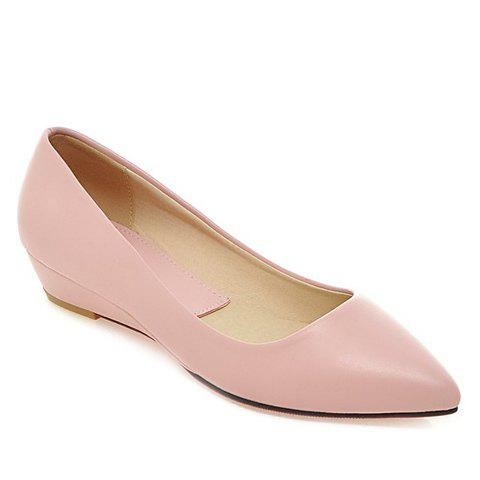 Trendy Point Toe Flat Slip On Shoes - 38 PINK Mobile