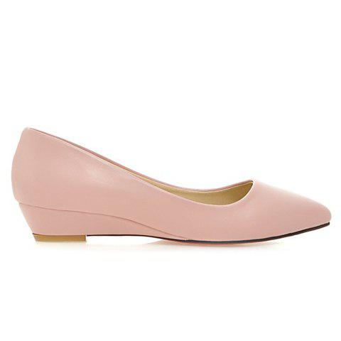Fancy Point Toe Flat Slip On Shoes - 39 PINK Mobile