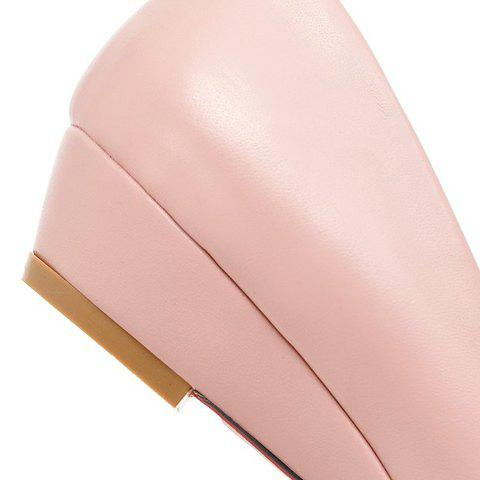 Sale Point Toe Flat Slip On Shoes - 39 PINK Mobile