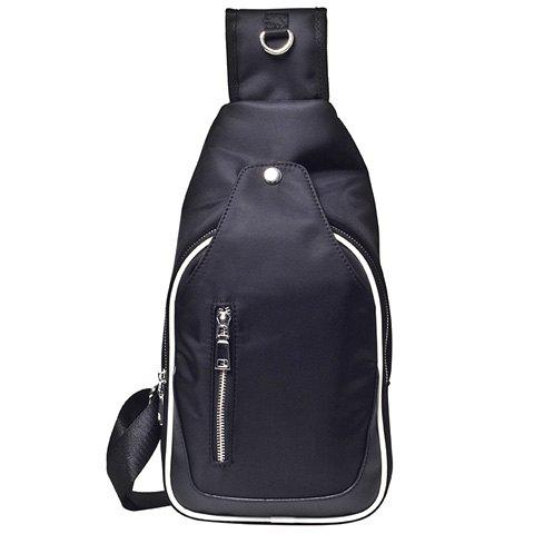 New Leisure Zippers and Nylon Design Messenger Bag For Men