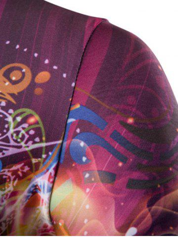Store 3D Abstract Eye Print Round Neck Galaxy T-Shirt - 2XL COLORMIX Mobile