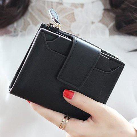 Hot Concise Solid Color and Hasp Design Small Wallet For Women