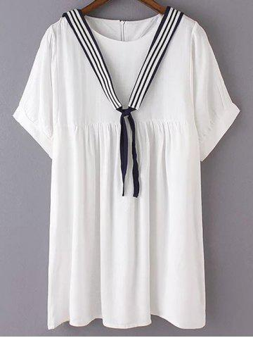 Trendy Casual Short Sleeve Loose Fit Women's Sailor T-Shirt