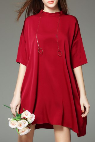 Solid Color T Shirt Dress
