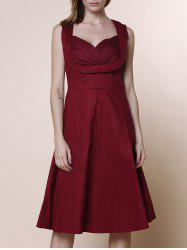 Retro Sweetheart Neck Sleeveless A-Line Ball Gown Dress