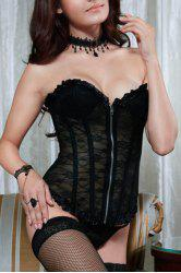 Attractive Lace See-Through Corset For Women -