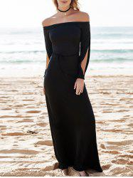 Hollow Out Casual Evening Prom Maxi Dress