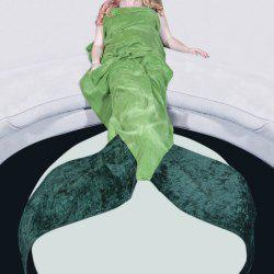 Hot Sale confortable Tail flanelle Mermaid Shape Blanket - Vert