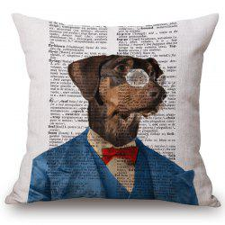 Stylish Animals Mr. Dog Portrait Pattern Square Shape Pillowcase (Without Pillow Inner) -