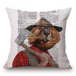 Stylish Animals Hamster Portrait Pattern Square Shape Pillowcase (Without Pillow Inner) -