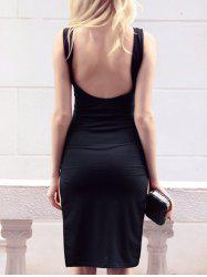 Open Back Slit Bodycon Club Dress