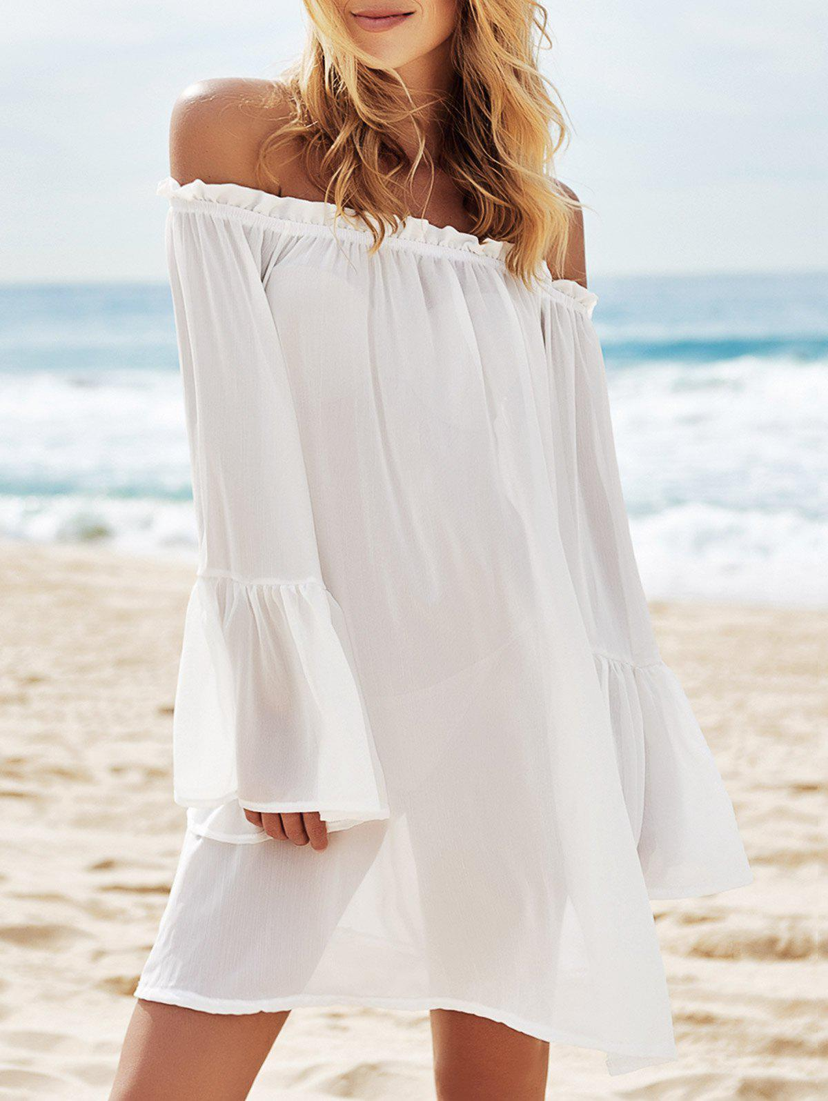 Outfit Off Shoulder Flounce Dressy Tunic Cover Up