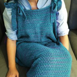 Stylish Drawstring Style Knitted Mermaid Design Sleeping Bag Blanket - TURQUOISE