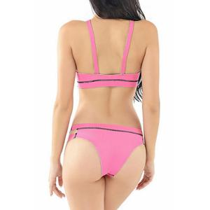 Stylish Strappy Cut Out Bikini Set For Women -