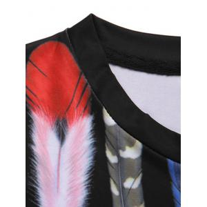 Pullover Feather Printed Round Collar Men's T-Shirt -
