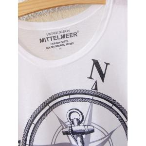 Simple Style Women's Anchor Pattern Short Sleeve T-Shirt -