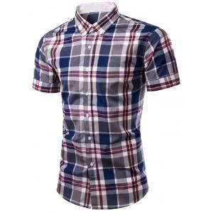 Fashion Plaid Printing Single Breasted Men's Shirt