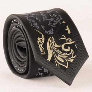Stylish Abstract Jacquard Black Tie For Men - BLACK