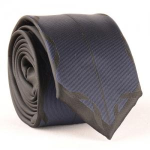 Stylish Deep Blue Match Black Tie For Men -