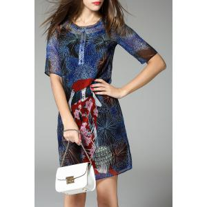 Figure Print A Line Dress Twinset -