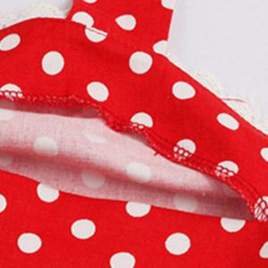 Halter Polka Dot 50s Swing Vintage Dress -